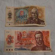 Ehem Geldscheine Tschechoslowakei 10 50