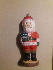 Christbaumschmuck Nikolaus aus Glas