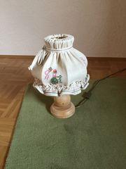 Rustikale Tischlampe Landhaus bestickt