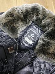 Winter Jacke schwarz glänzend von