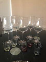 Wein Schnaps Gläser