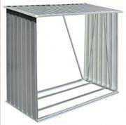 Brennholzlager Verzinkter Stahl 163 x