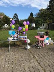Zuckerwattemaschine mieten Verleih Kindergeburtstag Hochzeit