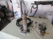 Konvolut Hydraulikzylinder Arbeitsventil Druckschläuche usw