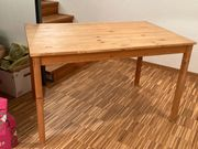 2 IKEA-Holztische massiv 120x75 cm