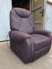 Fernseh-Sessel elektrisch verstellbar Farbe anthrazit
