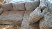 Couch Ecksofa L-form mit Schlaffunktion