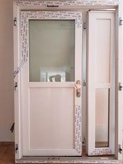Haustür zweiflügelig zweiteilig weiß NEU