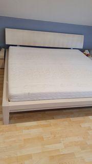 Doppelbett Weiss 200 x 200