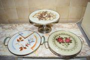 3 alte Kuchenplatten