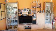 Glasvitrine Vitrine Wohnwand Minibar Fernsehschrank