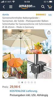 Sonnenschirmhalter 3 Stück NEU