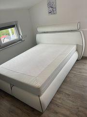 Boxspringbett in farbe Weiß 140cmx200cm