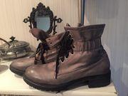 Damenbekleidung Damenschuhe Boots Stiefeletten Leder