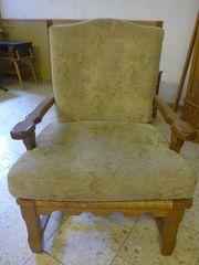 Sessel und Stuhl bezogen
