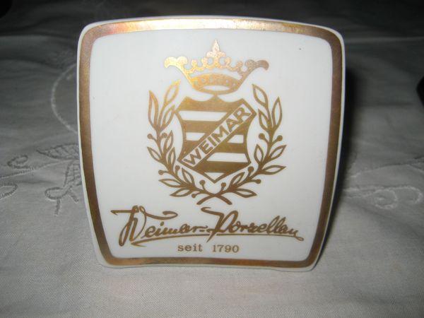 Weimar Porzellanaufsteller Werbeaufsteller Weimarer Porzellan