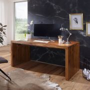 Myhomelando Schreibtisch BOHA Massiv-Holz Sheesham