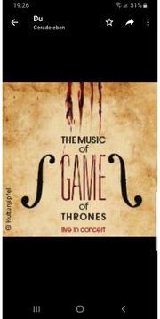Konzertkarten für The music of