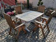 Holz Gartentisch mit Stühlen