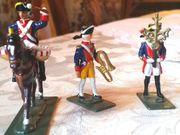 3 neuw Zinnsoldaten Preußen Musikkorps