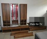 Wohnwand Wohnzimmerwand 7-teilig Schrankwand Vitrine