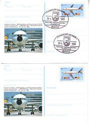 2 x Offizielle Sonderpostkarte zur