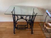 Dekorativer Beistelltisch Tisch aus Nähmaschinengestell