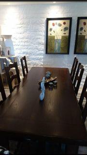 Esszimmertisch mit 6 Stühlen TOP