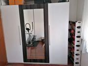 Kleiderschrank-Hochglanz mit Spiegel Schlafzimmer Schrank