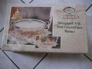 Silberplatte Platte Speisewärmer Wärmer für