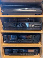 Stereoanlage JVC mit Plattenspieler Receiver