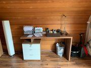 Schreibtisch und dazugehöriger Ordnerschrank TOP