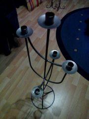 Metallkerzenständer Schmiedeeisener Kerzenständer - 5armig