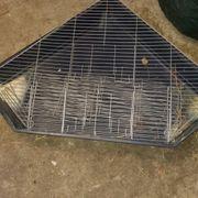 Meerschweinchen Kaninchen Käfig Eckkäfig zu