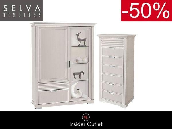 -50 SELVA Vitrine Kommode Set