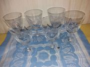 Kristallglas Gläser Vintage