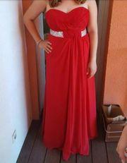 rotes Abendkleid Gr 44-46