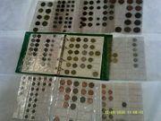Sammelalbum mit 260 Münzen aus