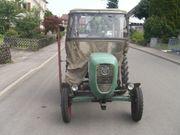 Güldner-traktor mit Verdeck und Mähwerk
