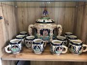 Bowle Set mit 12 Tassen