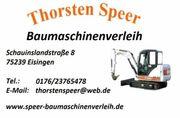 Minibagger Radlader Rüttelplatte Nasssäge Stampfer