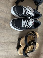 getragene Schuhe Socken Nylons