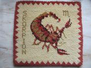 Wandbehang Sternzeichen Skorpion handgeknüpft Handarbeit