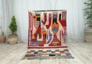 Marokkanische Vintage boujaad handgefertigte Teppich