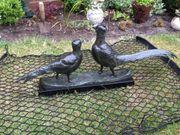 Bronze Skulptur Fasanen-Paar Kunsthandwerk Original