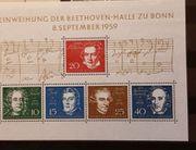 Briefmarkenblock Einweihung der Beethoven Halle