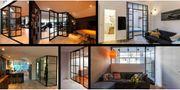 Glass trennwand Loft style Verglassung