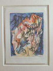 Bernhard Schultze Farbstiftzeichnung von 1997