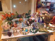 Dekomaterial Kunstblumen Dekoeier Vasen und