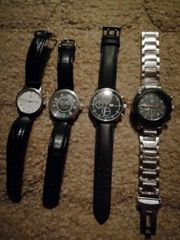 4 Hoch wertige original Uhren